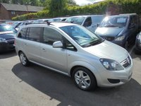 2013 VAUXHALL ZAFIRA 1.6 EXCLUSIV 5d 113 BHP METALLIC SILVER 7 SEATS   FULL SERVICE HISTORY SPARE KEY  12 MONTHS MOT  NEW BRAKES + DISCS VERY CLEAN 2013 YEAR CAR  £2995.00
