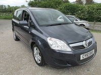2010 VAUXHALL ZAFIRA 1.6 EXCLUSIV 5DR 7 SEVEN SEATER £3495.00
