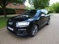 USED 2018 67 AUDI Q7 4.0 SQ7 TDI QUATTRO 5d AUTO 429 BHP High spec well looked after Audi SQ7 in Orca black with lots of optional extras