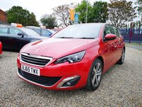 USED 2015 65 PEUGEOT 308 2.0 BLUE HDI S/S ALLURE 5d AUTO 150 BHP  £20 TAX / FULL DEALER SERVICE HISTORY