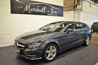 USED 2013 13 MERCEDES-BENZ CLS CLASS 3.0 CLS350 CDI BLUEEFFICIENCY AMG SPORT 5d AUTO 262 BHP SHOOTING BRAKE RARE SHOOTING BRAKE AMG SPORT - SERVICE HISTORY - GREY ALPACA LEATHER - SAT NAV - HEATED SEATS - POWERBOOT - F/R PDC - AMG ALLOYS
