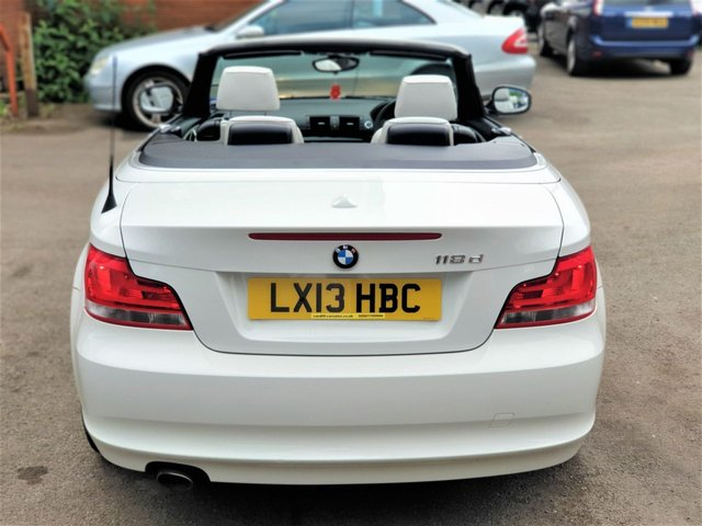 2013 13 BMW 1 SERIES 2.0 118D EXCLUSIVE EDITION 2d 141 BHP! p/x welcome! AUTOMATIC! 2 OWNERS! FULL WHITE LEATHER INTERIOR! 42K MILES ONLY! CLIMATE CONTROL! AUX & USB PORTS! VOICE RECOGNITION! FINANCE AVAILABLE! GOOD SERVICE HISTORY! NEW MOT! SERVICED! AA WARRANTY & BREAKDOWN COVER!