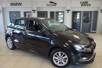 USED 2014 64 VOLKSWAGEN POLO 1.4 SE TDI BLUEMOTION 5d 74 BHP FINISHED IN A STUNNING BLACK WITH CLOTH UPHOLSTERY + SERVICE HISTORY + BLUETOOTH + MULTI FUNCTION WHEEL + DAB RADIO + AIR CONDITIONING + ELECTRIC WINDOWS + ELECTRIC MIRRORS + ALLOY WHEELS