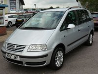 USED 2008 57 VOLKSWAGEN SHARAN 2.0 SE TDI 5d 140 BHP 2008 VW SHARAN 2.0 TDI SE 6 SPEED. 98K. REFLEX SILVER,  7 SEATS, FRONT AND  REAR PARKING SENSORS, PRIVACY GLASS,  ROOF RAILS, AIR CONDITIONING, FULL SERVICE HISTORY