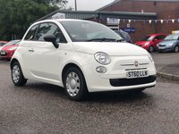 USED 2010 60 FIAT 500 1.2 POP 3d 69 BHP LOW INSURANCE GROUP*   £30 ROAD TAX *  FULL SERVICE RECORD ( 6 STAMPS ) *  MOT JAN 2020 *  CLIMATE CONTROL *