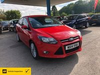 USED 2014 14 FORD FOCUS 1.6 ZETEC TDCI 5d 113 BHP NEED FINANCE? WE CAN HELP!