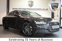 """USED 2016 16 AUDI A7 3.0 SPORTBACK TDI QUATTRO SE EXECUTIVE 5DR AUTO 268 BHP full service history  *NO ADMIN FEES* FINISHED IN STUNNING GREY WITH FULL LEATHER INTERIOR + FULL SERVICE HISTORY + SATELLITE NAVIGATION + BLUETOOTH + DAB RADIO + HEATED ELECTRIC SEATS + CRUISE CONTROL + PARKING SENSORS + RAIN SENSOR FINISHED IN STUNNING GREY WITH FULL LEATHER INTERIOR + FULL SERVICE HISTORY + BLUETOOTH + DAB RADIO + HEATED ELECTRIC SEATS + CRUISE CONTROL + PARKING SENSORS + RAIN SENSOR + 19"""" ALLOY WHEELS"""