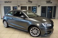 USED 2016 16 AUDI A1 1.4 TFSI S LINE 3d 123 BHP FINISHED IN STUNNING GREY WITH HALF LEATHER SPORTS SEATS + SERVICE HISTORY + DAB RADIO + BLUETOOTH + CRUISE CONTROL + ALLOY WHEELS