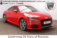 USED 2015 15 AUDI TT 2.0 TDI ULTRA S LINE 2DR 1 OWNER SAT NAV HALF LEATHER 182 BHP £20 12 MONTHS ROAD TAX + HALF LEATHER SEATS + SATELLITE NAVIGATION + BLUETOOTH + MULTI FUNCTION WHEEL + AIR CONDITIONING + DAB RADIO + PRIVACY GLASS + XENON HEADLIGHTS + ELECTRIC WINDOWS + RADIO/CD/SD + ELECTRIC MIRRORS + 19 INCH ALLOY WHEELS