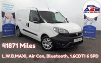 2016 FIAT DOBLO 1.6 16V MULTIJET  105 BHP Long Wheel Base,  41871 Miles, Air Con, Bluetooth, Reversing Sensors, Electric Pack, Twin Sliding Doors. £6480.00