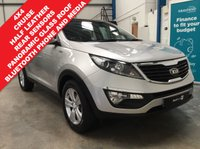 "USED 2012 62 KIA SPORTAGE 2.0 CRDI KX-2 5d 134 BHP 4x4, Full Kia Service History, Panoramic Tilt and Slide Glass Roof, Half Leather Seats, Bluetooth Phone and Media, Rear Parking Sensors, Cruise Control, Dual Zone Air Conditioning, Auto Wipers, Power Folding Mirrors, Remote Locking with 2 Keys, 17"" Alloys"
