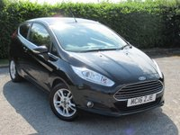 USED 2016 16 FORD FIESTA 1.0 ZETEC 3d TURBO ECO BOOST * ONE OWER FROM NEW * SPORTS SEATS * PRIVACY GLASS * CHROMELINE TRIM *