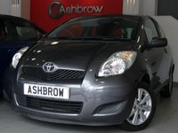 USED 2009 09 TOYOTA YARIS 1.0 TR VVT-I 3d 70 BHP 1 OWNER FROM NEW, GOOD SERVICE HISTORY (8 SERVICE STAMPS), £30 ROAD TAX (118 G/KM), AIR CONDITIONING, LEATHER MULTIFUNCTION STEERING WHEEL, AUX INPUT, CD HIFI, DIGITAL DASH, TRIP COMPUTER, MANUAL GEARBOX, COLOUR CODED EXTERIOR, 8 SPOKE ALLOY WHEELS, GREY CLOTH INTERIOR, HEIGHT ADJUSTABLE DRIVERS SEAT, ELECTRIC WINDOWS, ELECTRIC MIRRORS, REMOTE CENTRAL LOCKING, , ISO FIX, FOLDING REAR SEATS, 3x 3 POINT REAR SEAT BELTS. HPI CLEAR, PART EXCHANGE TO CLEAR