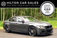 2016 BMW 3 SERIES 3.0 330D M SPORT 4d AUTO 255 BHP SOLD