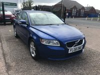 USED 2008 52 VOLVO S40 1.6 S 4d 100 BHP FULL SERVICE HISTORY 7 STAMPS-LOW MILEAGE-ALLOYS-NEW MOT-PETROL