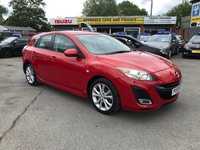 2009 MAZDA 3 1.6 SPORT 5d 105 BHP IN METALLIC RED WITH 59,000 MILES AND A FULL SERVICE HISTORY! £4699.00