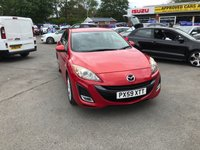 USED 2009 59 MAZDA 3 1.6 SPORT 5d 105 BHP IN METALLIC RED WITH 59,000 MILES AND A FULL SERVICE HISTORY! APPROVED CARS AND FINANCE ARE PLEASED TO OFFER THIS MAZDA 3 1.6 SPORT 5 DOOR 105 BHP IN METALLIC RED WITH 59,000 MILES AND A FULL SERVICE HISTORY AT 1K, 5K,20K, 22K,  37K, 47K AND 54K. THIS VEHICLE HAS A MASSIVE SPEC SUCH AS BLUETOOTH, MULTI-FUNCTIONING STEERING WHEEL, AIR CON, CRUISE CONTROL, CLIMATE CONTROL AND MUCH MORE. THIS VEHICLE IS A PERFECT FAMILY CAR FOR A NEW FAMILY, FOR FURTHER INFORMATION PLEASE CALL ON 01622871555