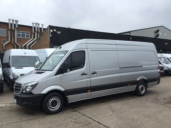 2016 MERCEDES-BENZ SPRINTER 2.1 316CDI LWB HIGH ROOF 163BHP. AIRCON. SILVER.  £11990.00