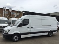 USED 2014 64 MERCEDES-BENZ SPRINTER 2.1 313CDI LWB HIGH ROOF 130BHP. ONLY 114K. F/S/H. FINANCE. PX LOW MILES. 1 OWNER. FINANCE. CHOICE OF 80 SPRINTERS.