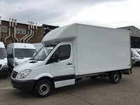 USED 2013 63 MERCEDES-BENZ SPRINTER 2.1 313CDI LWB LUTON BOX TAIL LIFT 130BHP. LOW 57,000 MILES. LOW 57,625 MILES. F/S/H. LOW FINANCE. PX WELCOME