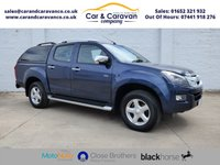 USED 2017 17 ISUZU D-MAX 2.5 TD UTAH VISION DCB 164 BHP One Owner Full Service History Buy Now, Pay Later Finance!
