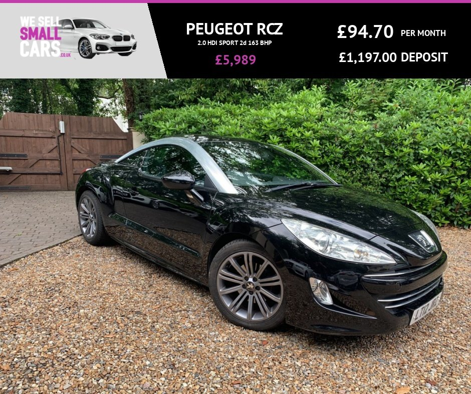 USED 2012 12 PEUGEOT RCZ 2.0 HDI SPORT 2d 163 BHP LEATHER DASH FACTORY BLUETOOTH 18 INCH ALLOYS FULL SERVICE HISTORY