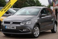 USED 2015 15 VOLKSWAGEN POLO 1.0 SE 5d 60 BHP FULL SERVICE HISTORY 1 OWNER FROM NEW