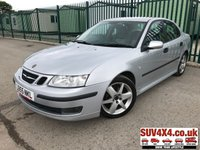 USED 2005 55 SAAB 9-3 1.9 DTH VECTOR SPORT 4d AUTO 150 BHP ALLOYS LEATHER BLUETOOTH CRUISE A/C MOT 03/20 SILVER WITH PART GREY LEATHER TRIM. 17 INCH ALLOYS. COLOUR CODED TRIMS. CRUISE CONTROL. PARKING SENSORS. CLIMATE CONTROL INCLUDING AIR CON. BLUETOOTH PREP. R/CD PLAYER. AUTO MFSW. MOT 02/19. AGE/MILEAGE RELATED SALE. P/EX CLEARANCE CENTRE - LS23 7FQ. TEL 01937 849492 OPTION 4