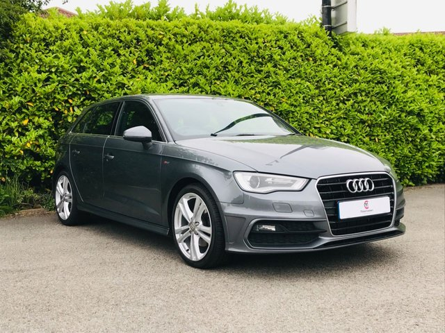 """USED 2016 16 AUDI A3 2.0 TDI S LINE NAV 5d 182 BHP Main Dealer Service History, One Owner From New, Sat Nav, Bluetooth, £30 Tax Per Year, S-Line Leather Trim, 18"""" Alloy Wheels, Tinted Glass, Climate Control, Air Conditioning, Front + Rear Fog Lights, Spare Key, Drive Away In Under 1 Hour"""