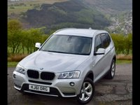 USED 2011 61 BMW X3 2.0 XDRIVE20D SE 5d AUTO 181 BHP Xdrive with 60k and leather