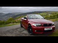 USED 2013 13 BMW 1 SERIES 2.0 118D SPORT PLUS EDITION 2d 141 BHP M-sport convertible, leather