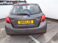 USED 2015 15 TOYOTA YARIS 1.3 VVT-I ICON 5 door  99 BHP grey £30 pounds road tax for the year air conditioning alloy wheels supplied with service mot march 2020