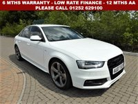 USED 2013 13 AUDI A4 2.0 TDI BLACK EDITION 4d AUTO 141 BHP All retail cars sold are fully prepared and include - Oil & filter service, 6 months warranty, minimum 6 months Mot, 12 months AA breakdown cover, HPI vehicle check assuring you that your new vehicle will have no registered accident claims reported, or any outstanding finance, Government VOSA Mot mileage check. Because we are an AA approved dealer, all our vehicles come with free AA breakdown cover and a free AA history check.. Low rate finance available. Up to 3 years warranty available.
