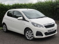 USED 2015 65 PEUGEOT 108 1.0 ACTIVE 5d *LOW MILEAGE*BLUETOOTH*MULTIFUNCTION STEERING WHEEL*