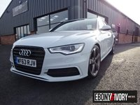 USED 2013 63 AUDI A6 2.0 TDI BLACK EDITION 4DR MULTITRONIC + FULLY SERVICED + BLACK LEATHER INTERIOR