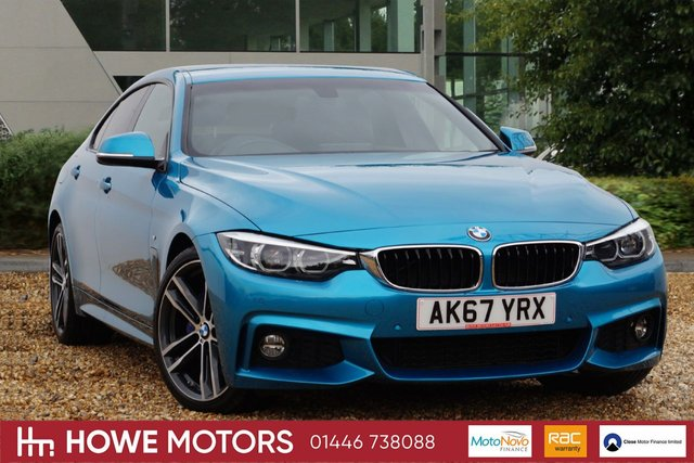2017 67 BMW 4 SERIES 2.0 420I M SPORT GRAN COUPE 4d AUTO 181 BHP PRO NAVIGATION HEATED NECK SCARF CORAL RED HEATED DAKOTA LEATHER DAB PDC