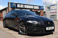 USED 2015 15 JAGUAR XF 2.2 D R-SPORT BLACK 4d AUTO 200 BHP BLACK STYING PACK, MERIDIAN SOUND SYSTEM, HEATED SEATS