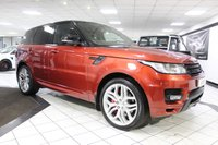 USED 2014 14 LAND ROVER RANGE ROVER SPORT 5.0 V8 AUTOBIOGRAPHY DYNAMIC AUTO 510 BHP STEALTH & BLACK PACK PAN ROOF!