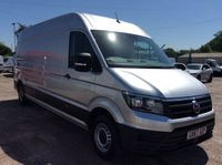 USED 2018 67 VOLKSWAGEN CRAFTER LWB 2.0 CR35 TDI LWB H/R STARTLINE 138 BHP 1 OWNER FSH EURO 6 AIR CON PDC CRUISE CONTROL MANUFACTURER'S WARRANTY EURO 6 AIR CONDITIONING BLUETOOTH CRUISE CONTROL ELECTRIC WINDOWS AND MIRRORS PARKING SENSORS 6 SPEED SPARE KEY