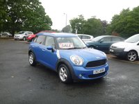 2011 MINI COUNTRYMAN 1.6 ONE 5d 98 BHP £6650.00
