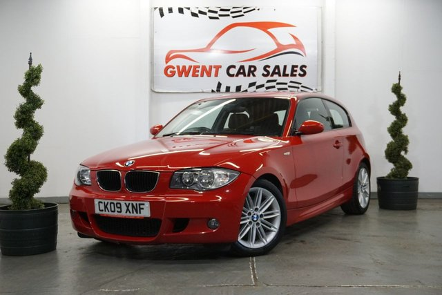USED 2009 09 BMW 1 SERIES 2.0 118D M SPORT 3d 141 BHP GOOD HISTORY,, LONG MOT,, LOW TAX