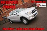 USED 2016 16 FORD RANGER 2.2 XLT 4X4 DCB TDCI 158 BHP + VALUE NEW SHAPE + AIR CON NO DEPOSIT FINANCE + AIR CON + NEW  SHAPE