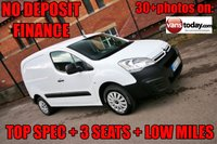 USED 2015 65 CITROEN BERLINGO 1.6 850 ENTERPRISE L1 HDI 89 BHP + 3 SEATS + AIR CON NO DEPOSIT FINANCE + 3 SEATS + AIR CON + TOP SPEC