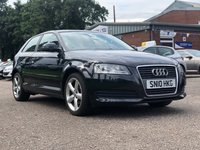 USED 2010 10 AUDI A3 1.6 MPI TECHNIK 3d 101 BHP 2 PREVIOUS KEEPER *  SERVICE RECORD *  MOT JAN 2020 *  17 INCH ALLOYS *  CLIMATE CONTROL *