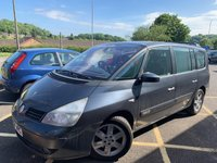 USED 2004 04 RENAULT GRAND ESPACE 2.2 INITIALE DCI 5d 151 BHP GREY METALLIC WITH FULL BLACK LEATHER UPHOLSTERY. MOT TILL JUNE 2020. SATELLITE NAVIGATION. PANORAMIC GLASS SUNROOF. ALLOY WHEELS. ELECTRIC WINDOWS. REMOTE CENTRAL LOCKING. NEW TURBO FITTED MARCH 2019. PLEASE GOTO www.lowcostmotorcompany.co.uk TO VIEW OVER 120 CARS IN STOCK, SOME OF THE CHEAPEST ONLINE.