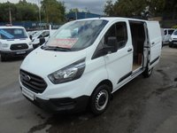 2018 FORD TRANSIT CUSTOM 2.0 300 SHORT WHEEL BASE LO ROOF ( EURO 6 )  L1 H1 P/V ONLY 11,500 MILES WITH FULL SERVICE HISTORY, MAIN DEALER WARRANTY TILL 12 / 04 / 2021 (( FINANCE AVAILABLE )))  £12995.00