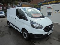 USED 2018 18 FORD TRANSIT CUSTOM 2.0 300 SHORT WHEEL BASE LO ROOF ( EURO 6 )  L1 H1 P/V ONLY 11,500 MILES WITH FULL SERVICE HISTORY, MAIN DEALER WARRANTY TILL 12 / 04 / 2021 (( FINANCE AVAILABLE )))  !! FINANCE AVAILABLE !!! WWW.PREMIERVANSALES.CO.UK 0161 429 8644