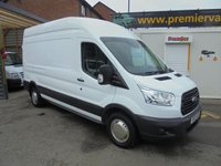 2016 FORD TRANSIT 2.2 350 LONG WHEEL BASE HIGH ROOF PANEL VAN L3H3 125 BHP, FULL SERVICE HISTORY ((( FINANCE AVAILABLE )))  £8995.00