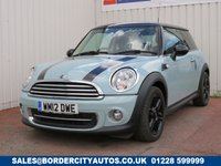 USED 2012 12 MINI HATCH COOPER 1.6 COOPER 3d 122 BHP DEALER FULL SERVICE HISTORY