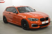 USED 2017 67 BMW 1 SERIES 3.0 M140I 3d AUTO 340 BHP VALENCIA ORANGE + LOW MILES + SAT NAV